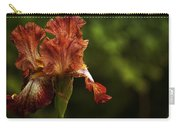 Burnt Orange Iris Carry-all Pouch