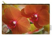 Burnt Orange Orchids Carry-all Pouch