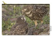 Burrowing Owl Feeding It's Chick Photo Carry-all Pouch