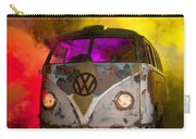 Bus In A Cloud Of Multi-color Smoke Carry-all Pouch