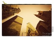 Business Architecture Skyscrapers In London Uk Golden Tint Carry-all Pouch