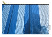 Business Skyscrapers Modern Architecture In Blue Tint Carry-all Pouch by Michal Bednarek