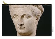Bust Of Emperor Claudius Carry-all Pouch