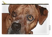 Buster Brown The Boxer Carry-all Pouch by Sandra Clark