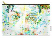 Buster Keaton - Watercolor Portrait Carry-all Pouch
