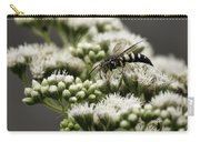 Busy Bee On White Carry-all Pouch