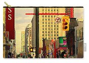 Busy Downtown Toronto Morning Cross Walk Traffic City Scape Paintings Canadian Art Carole Spandau Carry-all Pouch