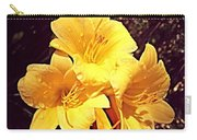 Butter Yellow Lilly Cluster Carry-all Pouch