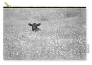 Buttercup In Black-and-white Carry-all Pouch by JD Grimes