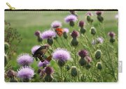 Butterflies And Bull Thistle Wildflowers Carry-all Pouch