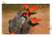 Butterflies And Turtle Carry-all Pouch