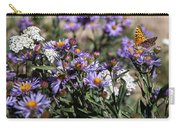 Butterflies And Wildflowers Carry-all Pouch