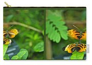 Butterflies Gentle Courtship 4 Panel Composite Carry-all Pouch