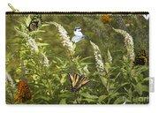 Butterflies In Golden Garden Carry-all Pouch