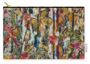Butterflies In Plum Blossoms And Texture Carry-all Pouch