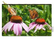 Butterflies On Echinacea Flowers Carry-all Pouch