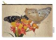 Butterflies Snd Flowers Carry-all Pouch