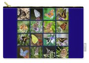Butterflies Squares Collage Carry-all Pouch