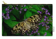 Butterfly - Yellow Green Purple Carry-all Pouch