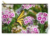 Butterfly And Blooms - Spring Flowers And Tiger Swallowtail Butterfly. Carry-all Pouch