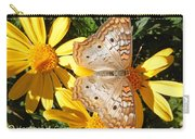 Butterfly And Daisies Carry-all Pouch