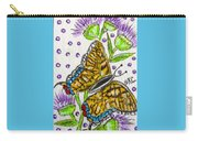 Butterfly And Thistles Carry-all Pouch