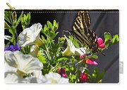 Swallowtail Butterfly On White Petunia Flower Carry-all Pouch