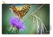 Butterfly Beauty And Little Friend Carry-all Pouch
