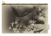 Butterfly Black 06 In Heirloom Finish Carry-all Pouch