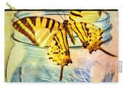 Butterfly Blue Glass Jar Carry-all Pouch by Bob Orsillo