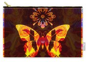 Butterfly By Design Abstract Symbols Artwork Carry-all Pouch