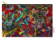 Butterfly Collage Red Carry-all Pouch