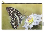 Butterfly Food At Dahlia Flower Carry-all Pouch
