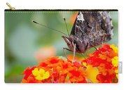 Butterfly Hanging Out On Wildflowers Carry-all Pouch