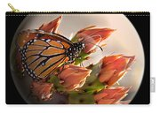Butterfly In A Globe Carry-all Pouch