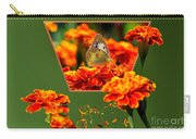 Butterfly In A Sea Of Orange Floral 02 Carry-all Pouch