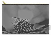 Butterfly In Black And White Carry-all Pouch