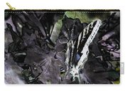 Butterfly In Violet Green And Black Carry-all Pouch
