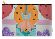 Butterfly Kisses And Ladybug Hugs Carry-all Pouch