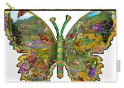 Butterfly Meadow Green Carry-all Pouch
