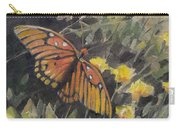 Butterfly Meadow With Yellow Flowers Carry-all Pouch