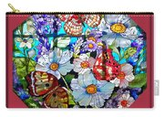 Butterfly Octagon Stained Glass Window Carry-all Pouch