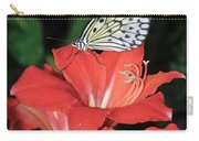 Butterfly On A Lily Carry-all Pouch