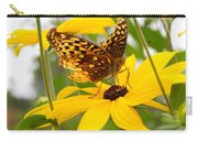 Butterfly On Blackeyed Susan Carry-all Pouch