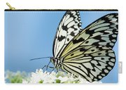 Butterfly On Blue Carry-all Pouch
