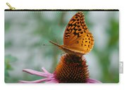 Butterfly On Cornflower Carry-all Pouch