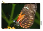 Butterfly On Orange Bloom Carry-all Pouch