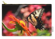 Butterfly On Orange Sunflower Carry-all Pouch