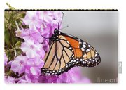 Butterfly On Phlox Flowers Carry-all Pouch