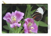 Butterfly On Pink Lillies Carry-all Pouch